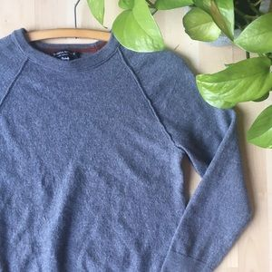 BANANA REPUBLIC Italian Wool Crewneck Sweater Grey